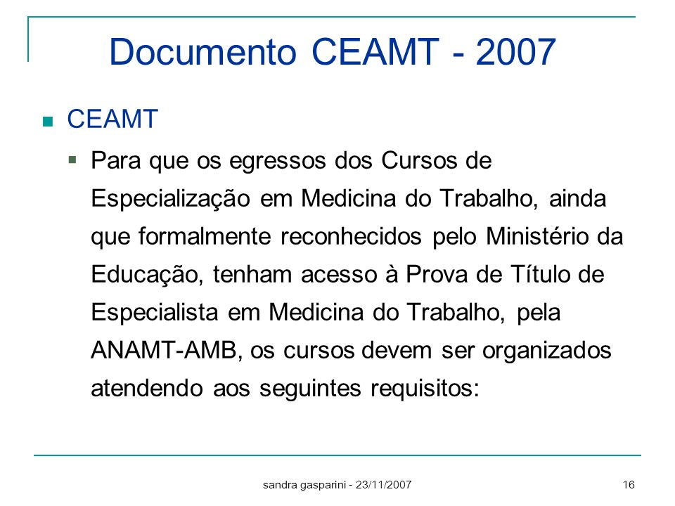 Documento CEAMT - 2007 CEAMT