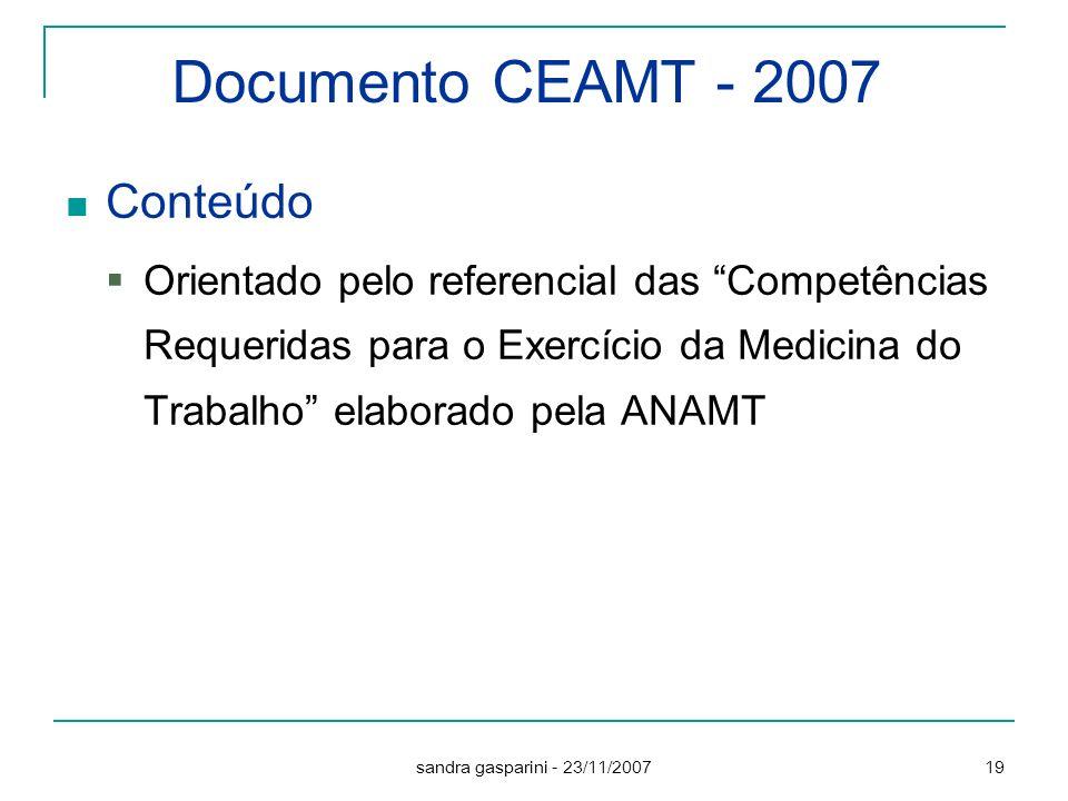 Documento CEAMT - 2007 Conteúdo
