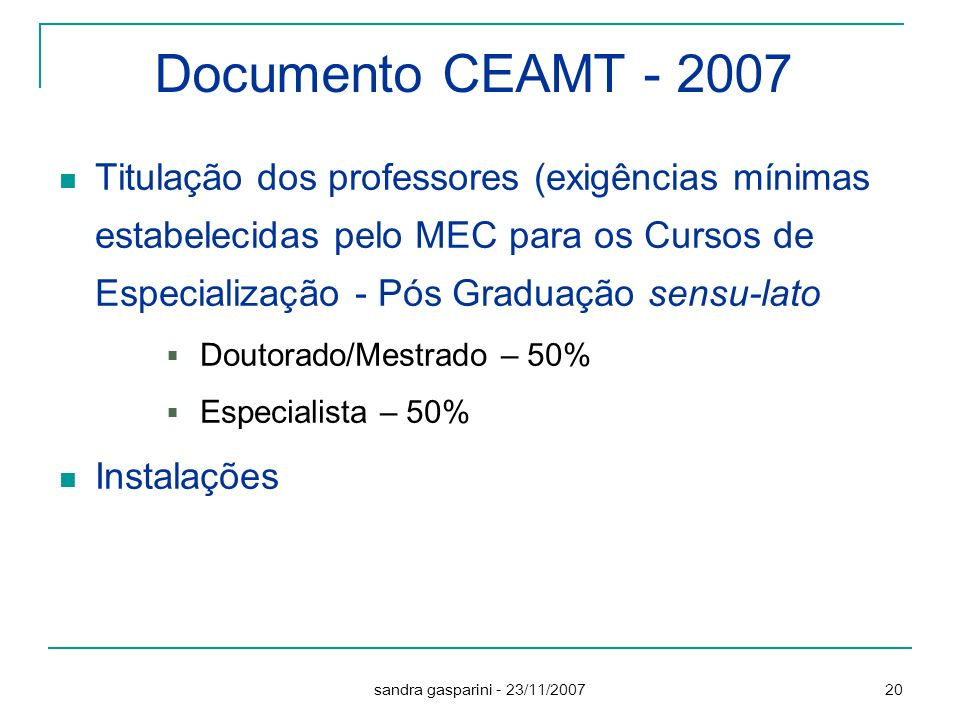 Documento CEAMT