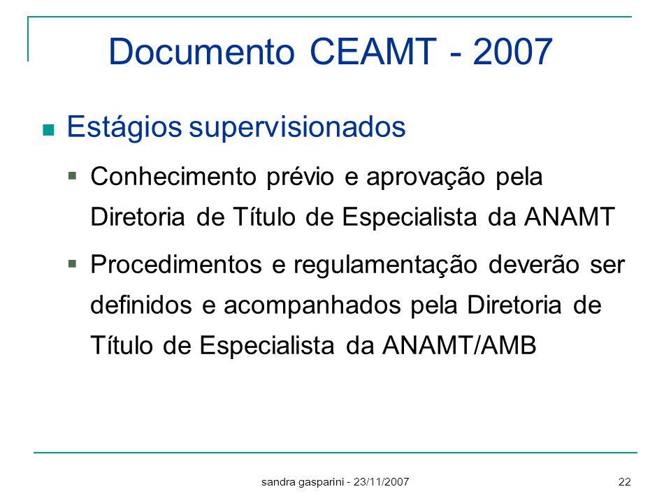 Documento CEAMT - 2007 Estágios supervisionados