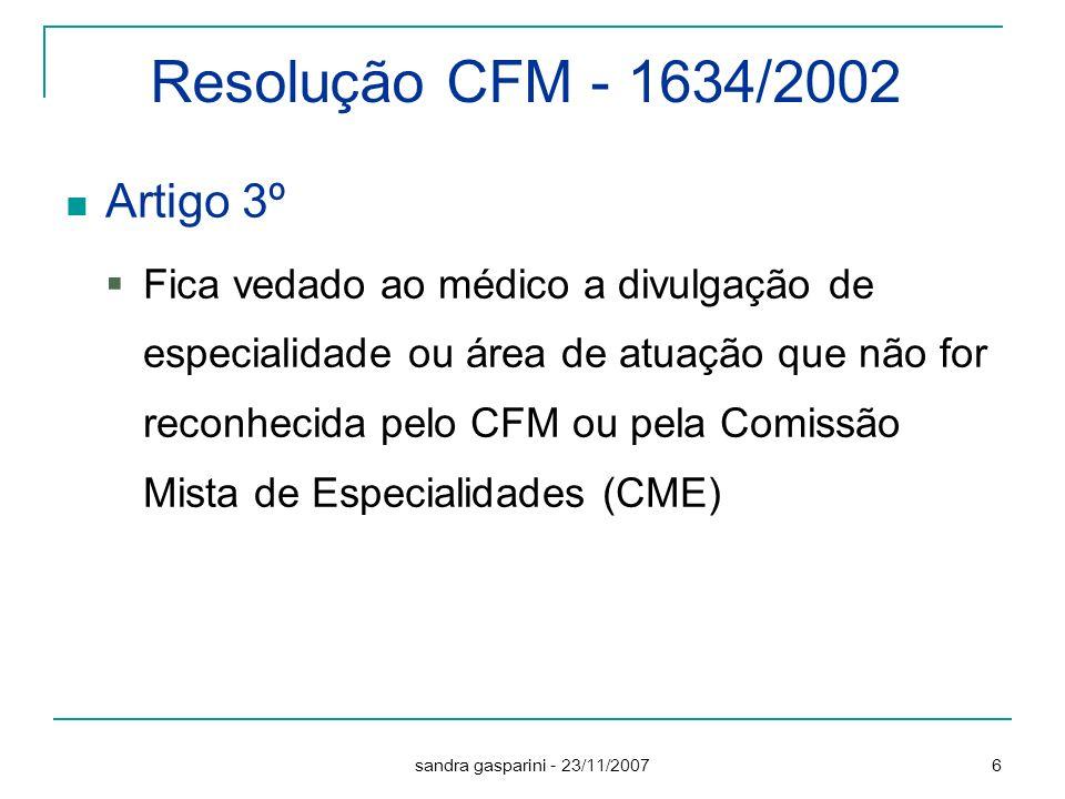Resolução CFM - 1634/2002 Artigo 3º