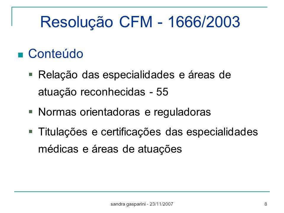 Resolução CFM - 1666/2003 Conteúdo