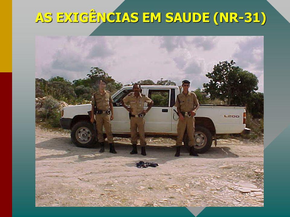 AS EXIGÊNCIAS EM SAUDE (NR-31)