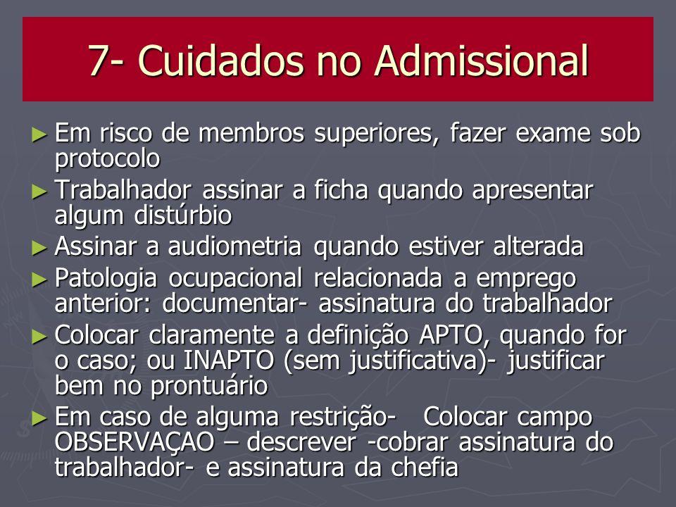 7- Cuidados no Admissional