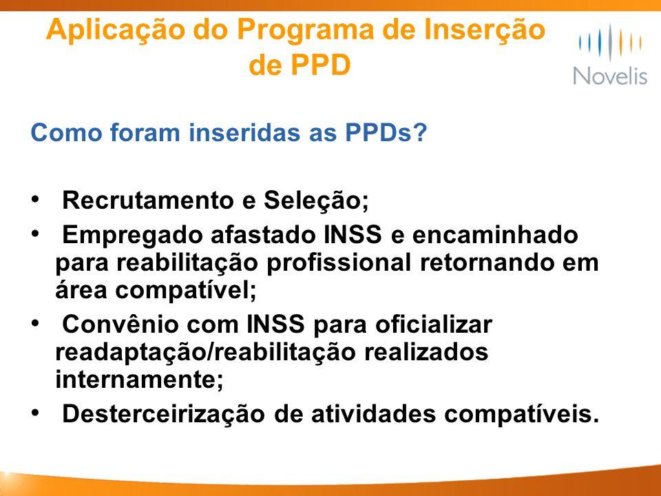 Aplicação do Programa de Inserção de PPD