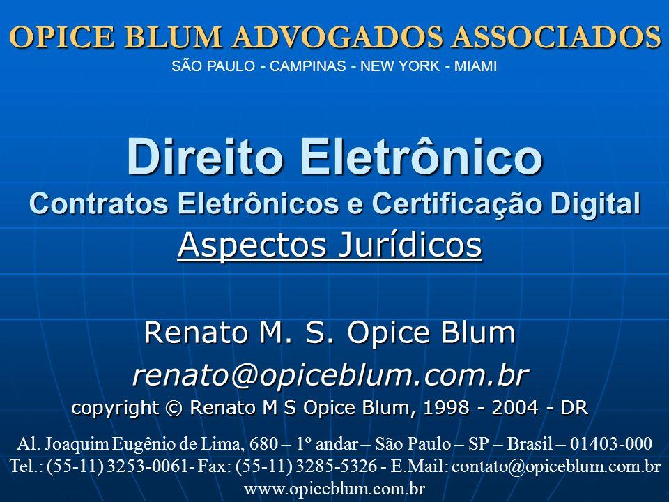 Direito Eletrônico Contratos Eletrônicos e Certificação Digital