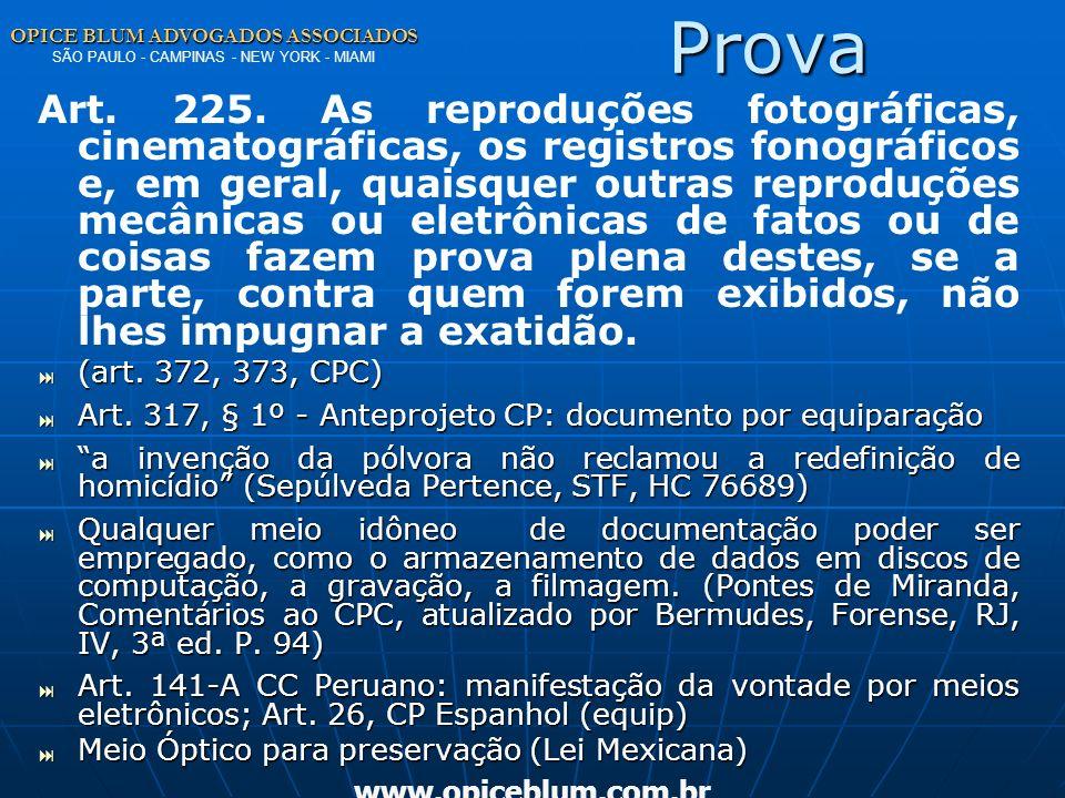 Prova OPICE BLUM ADVOGADOS ASSOCIADOS SÃO PAULO - CAMPINAS - NEW YORK - MIAMI.
