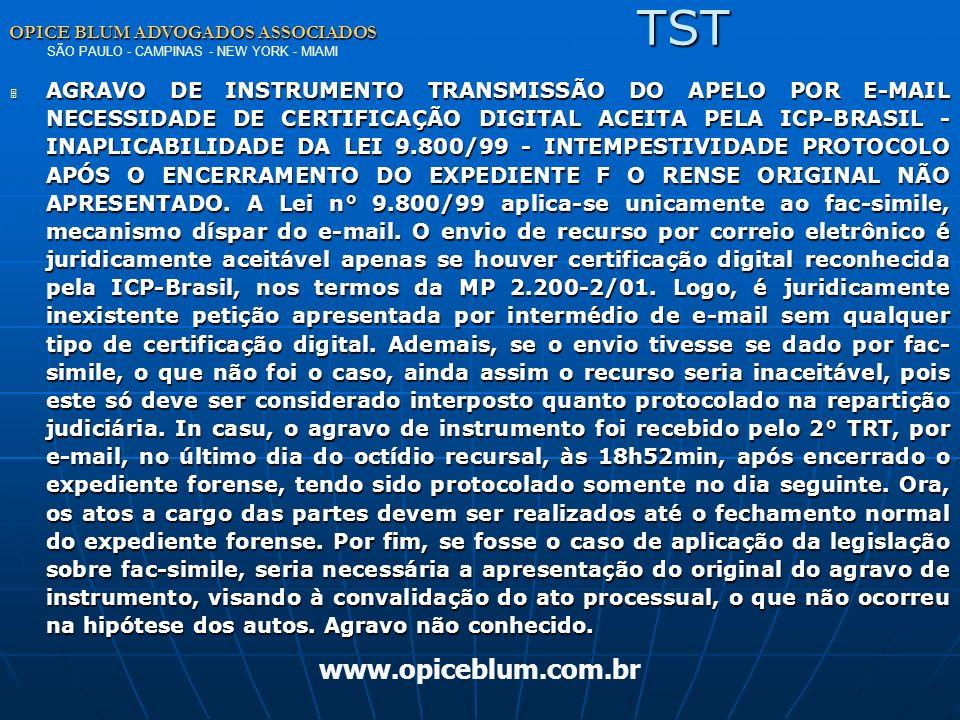 TST www.opiceblum.com.br