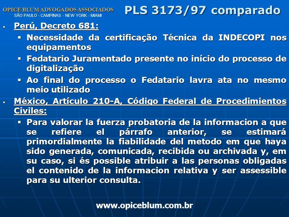PLS 3173/97 comparado Perú, Decreto 681: