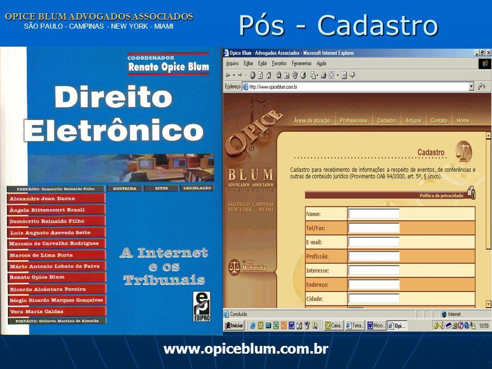 Pós - Cadastro www.opiceblum.com.br