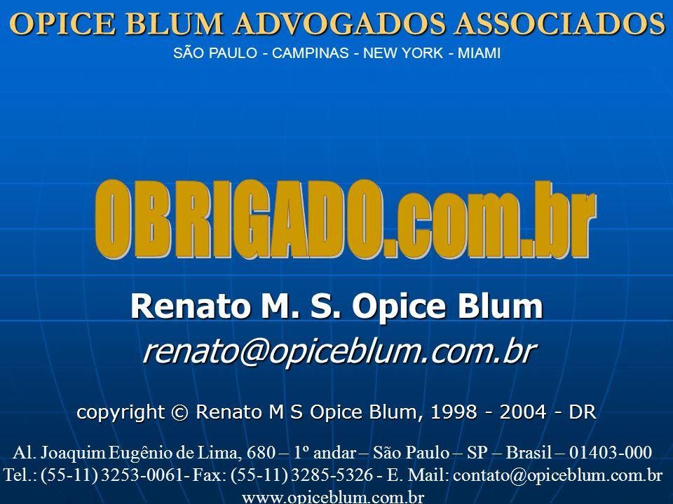 copyright © Renato M S Opice Blum, 1998 - 2004 - DR