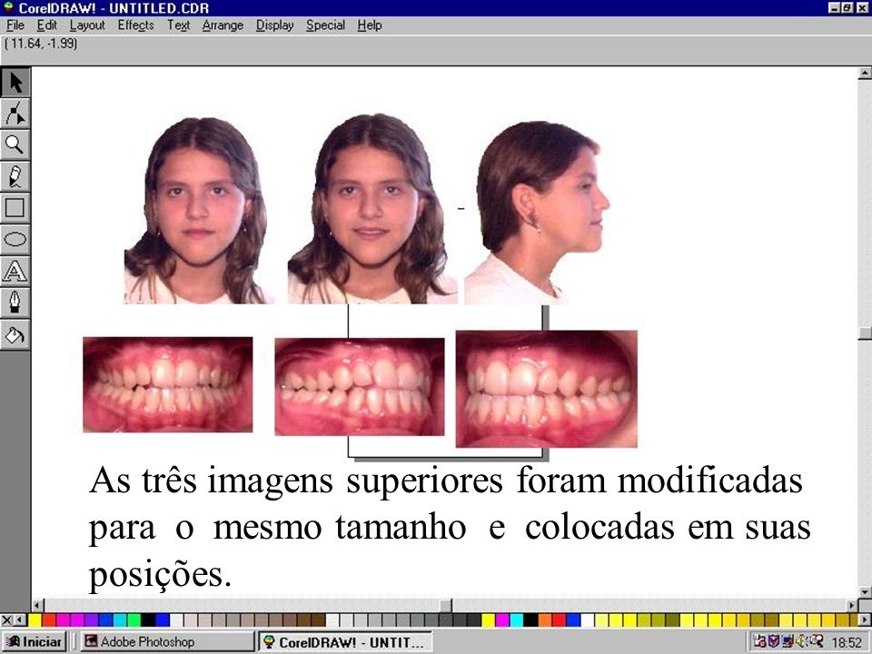 As três imagens superiores foram modificadas