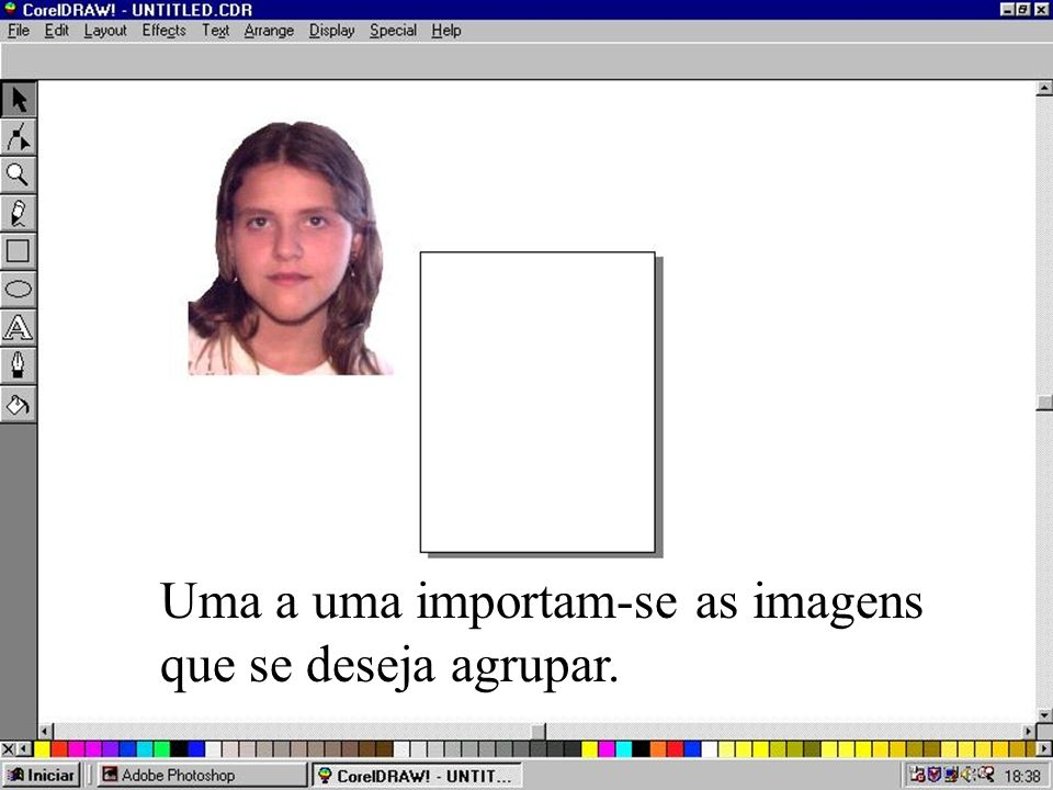 Uma a uma importam-se as imagens