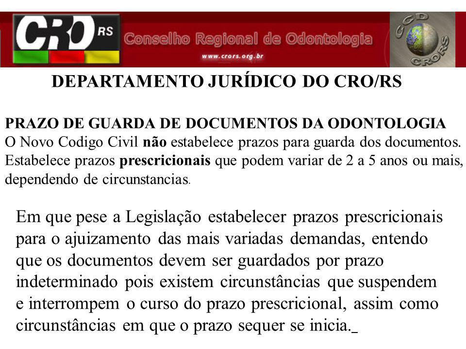Em que pese a Legislação estabelecer prazos prescricionais