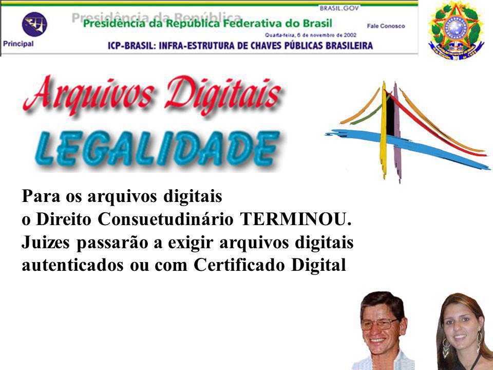 Para os arquivos digitais