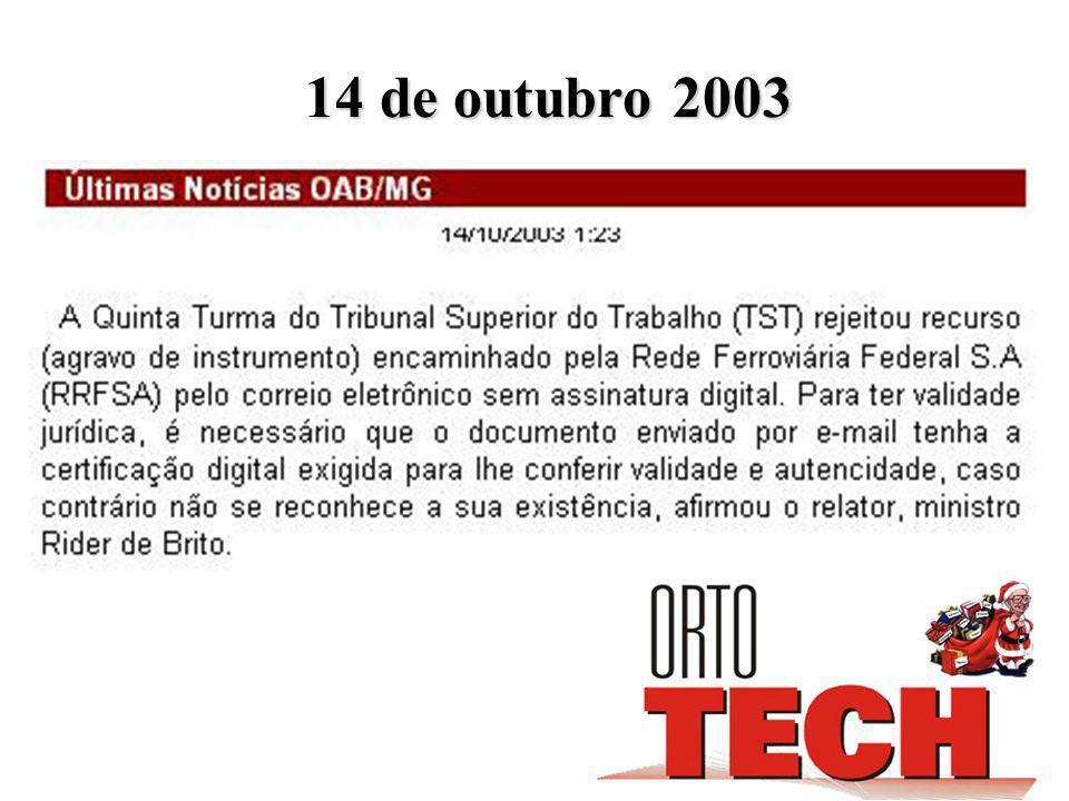 14 de outubro 2003