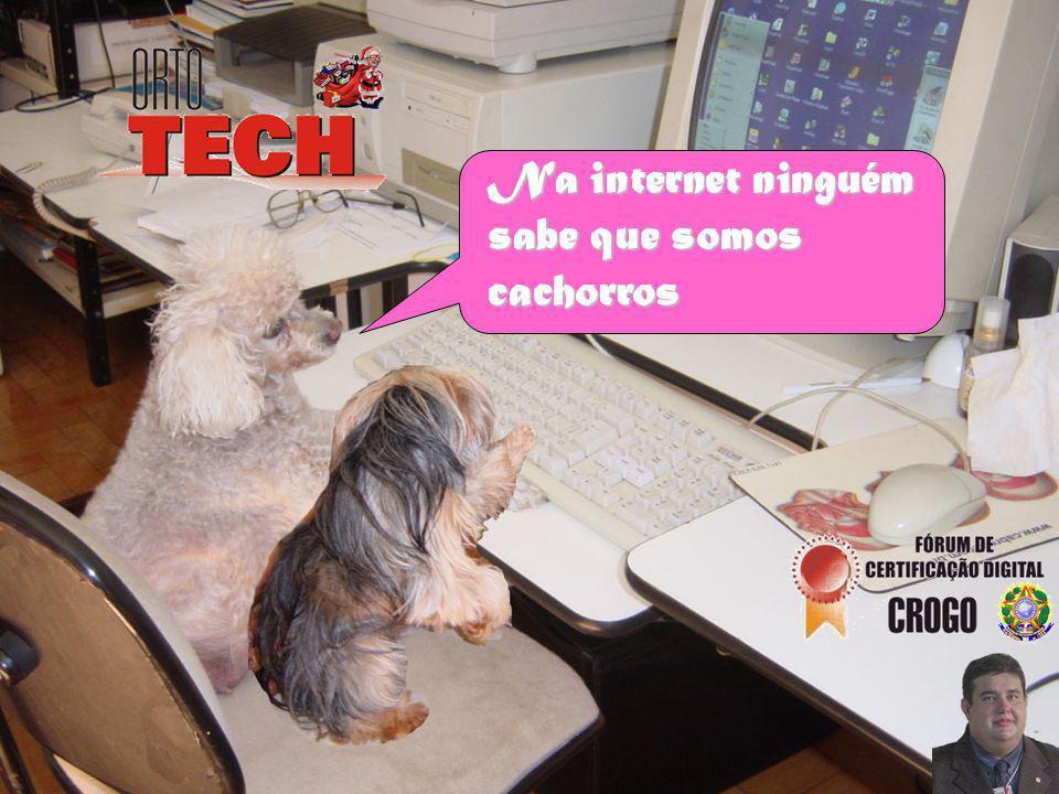 Na internet ninguém sabe que somos cachorros