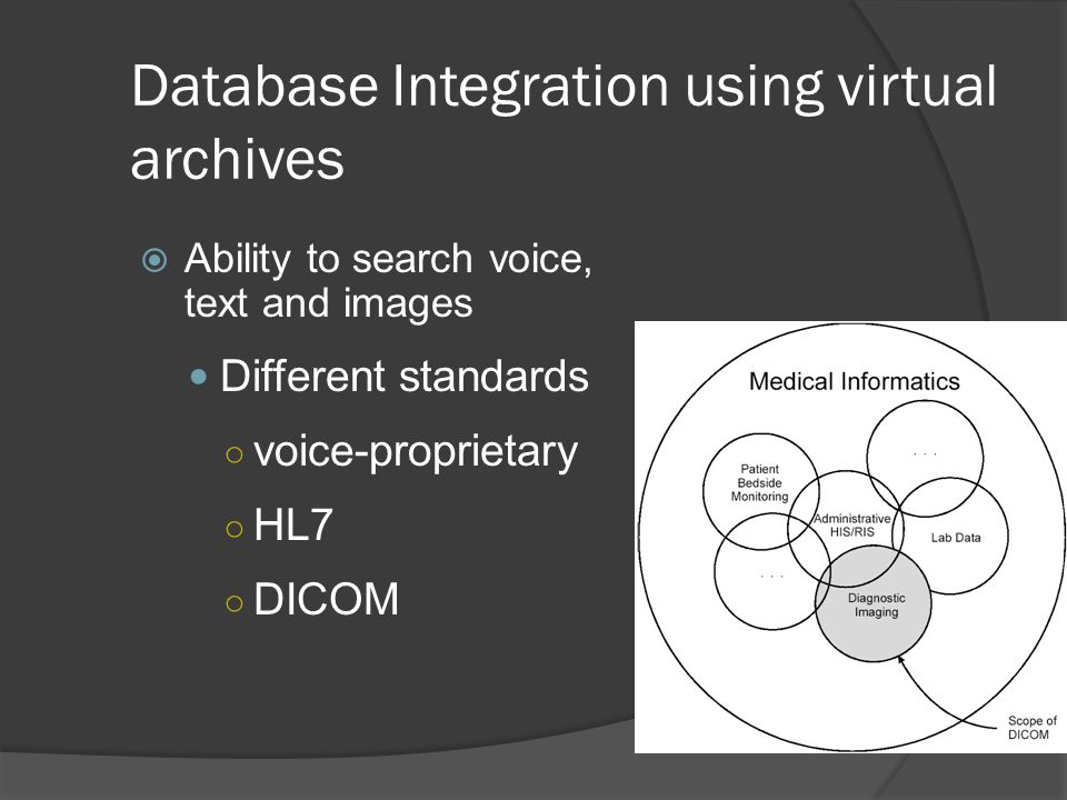 Database Integration using virtual archives