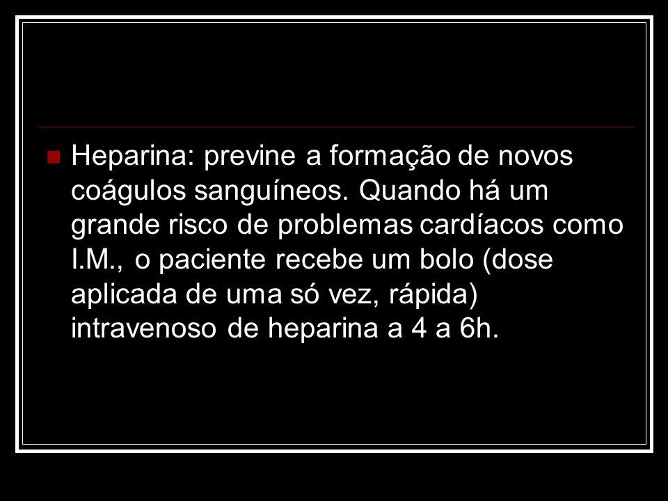 Heparina: previne a formação de novos coágulos sanguíneos