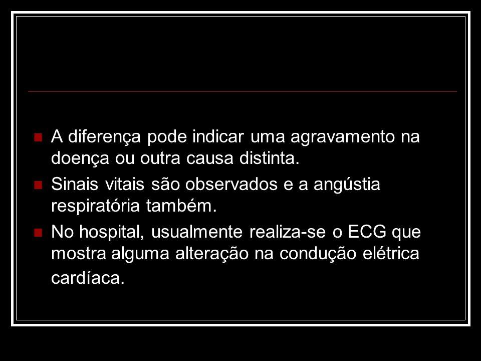 A diferença pode indicar uma agravamento na doença ou outra causa distinta.
