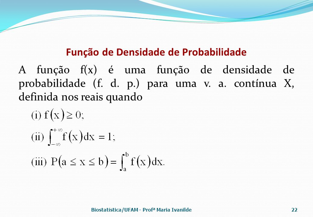 Função de Densidade de Probabilidade