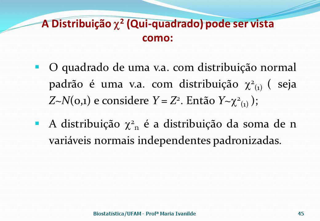 A Distribuição 2 (Qui-quadrado) pode ser vista como: