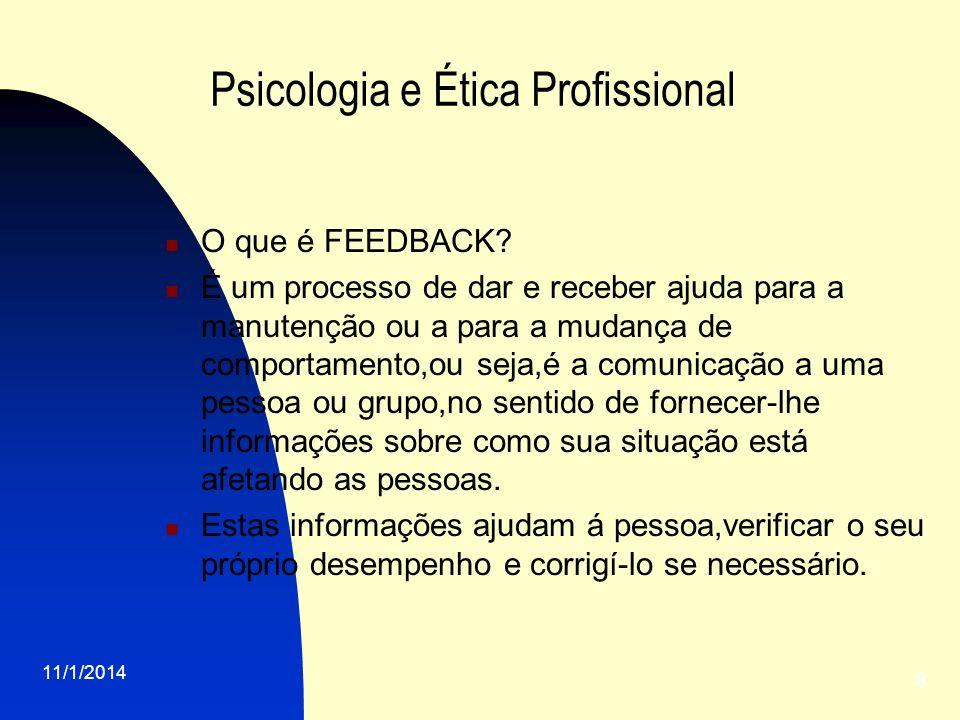 Psicologia e Ética Profissional