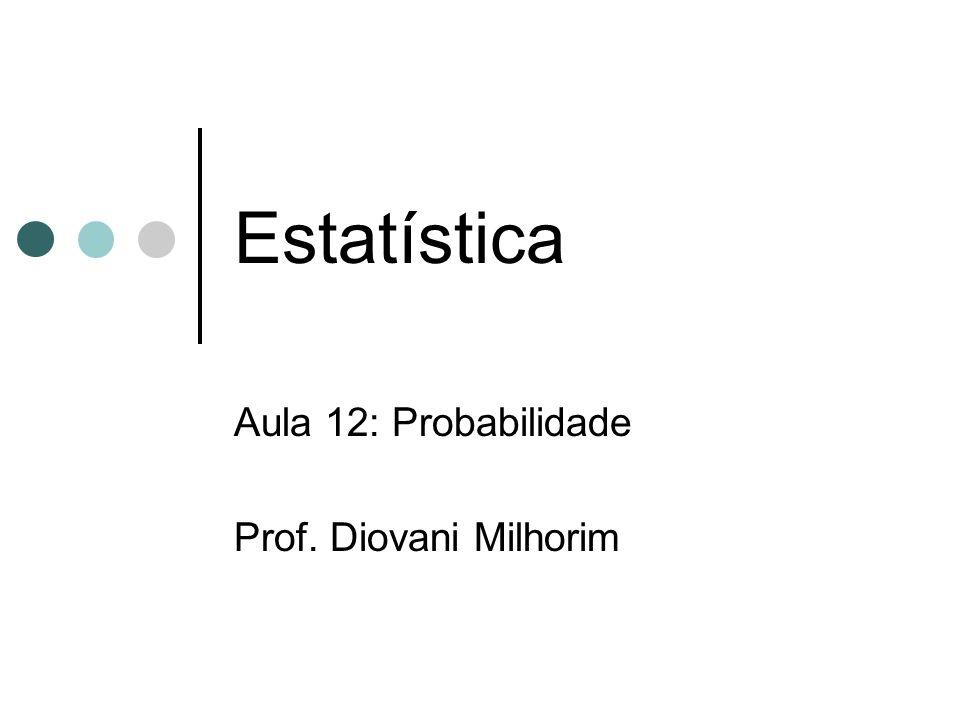 Aula 12: Probabilidade Prof. Diovani Milhorim
