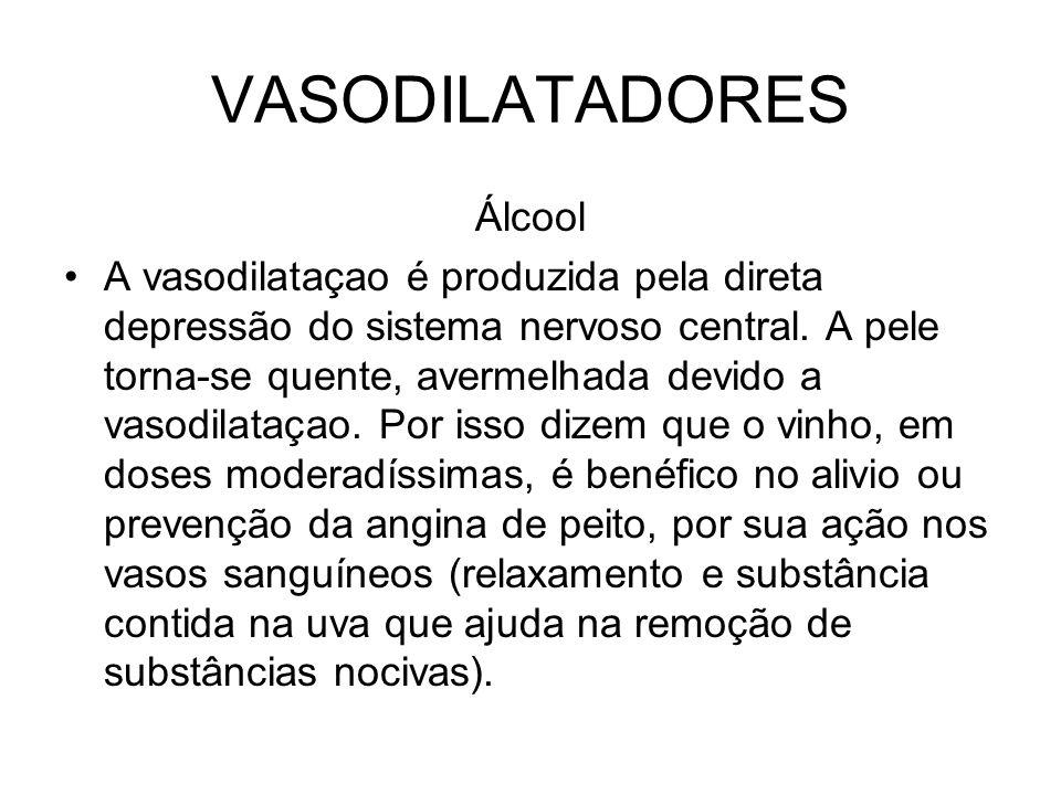 VASODILATADORES Álcool