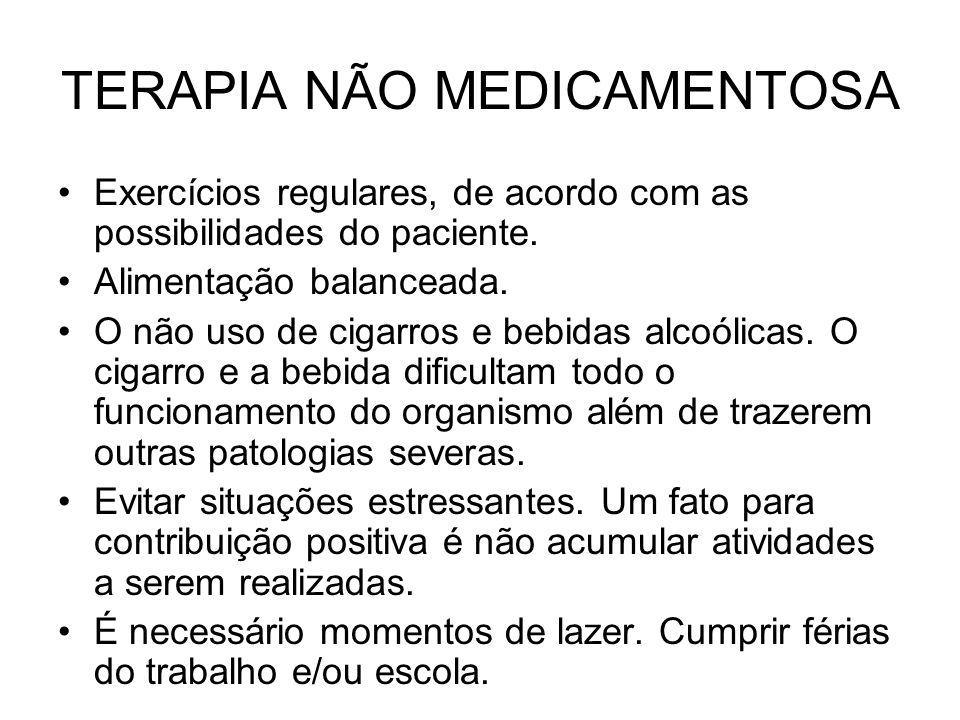 TERAPIA NÃO MEDICAMENTOSA