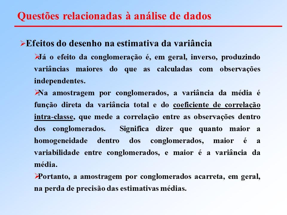 Questões relacionadas à análise de dados