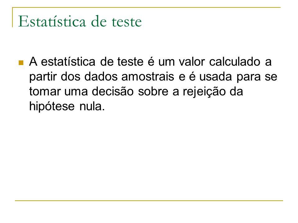 Estatística de teste