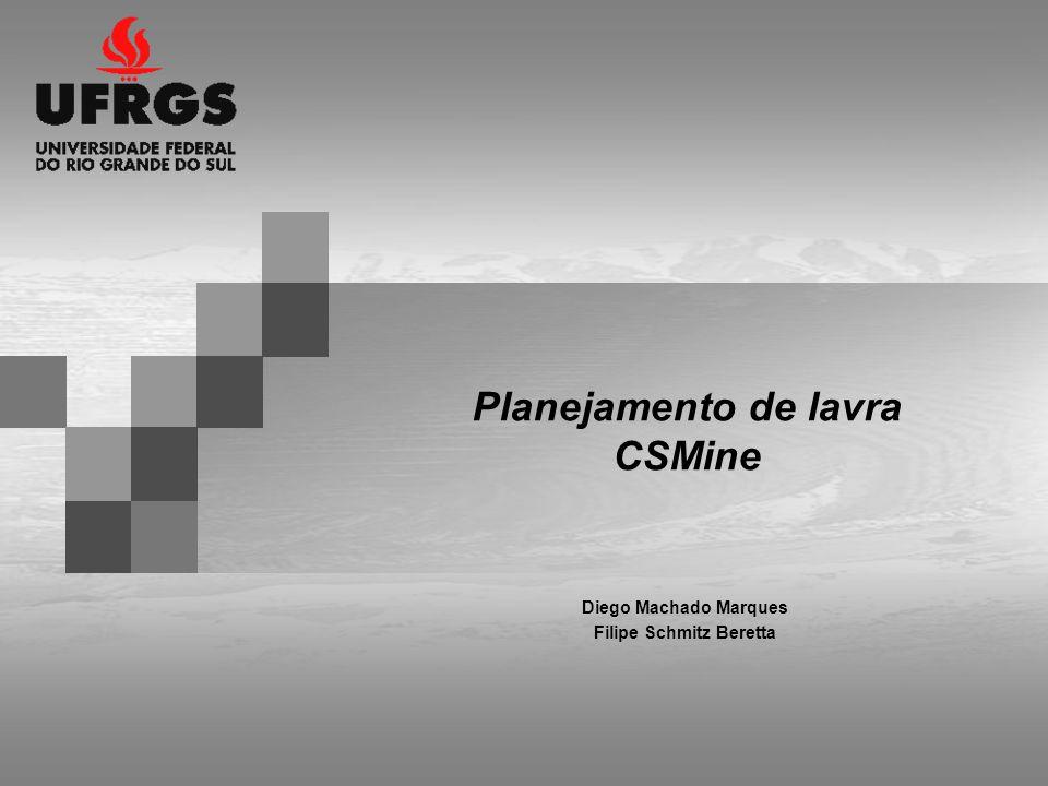Planejamento de lavra CSMine