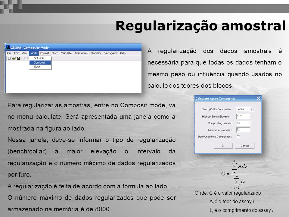 Regularização amostral