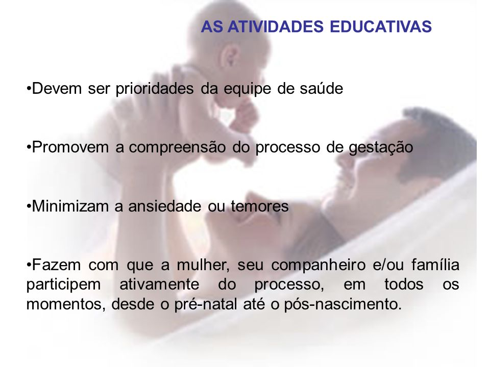 AS ATIVIDADES EDUCATIVAS