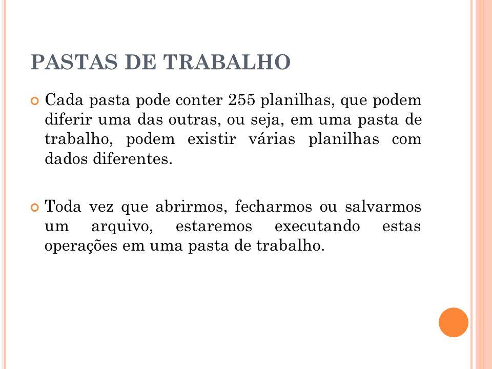 PASTAS DE TRABALHO