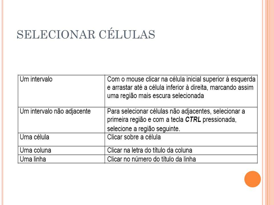 SELECIONAR CÉLULAS