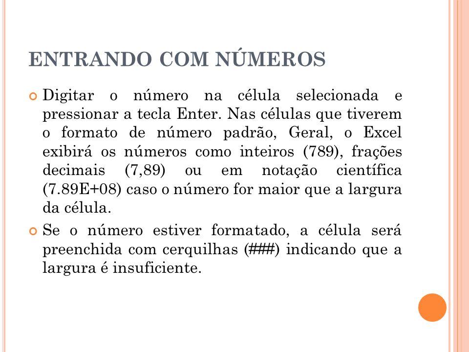 ENTRANDO COM NÚMEROS