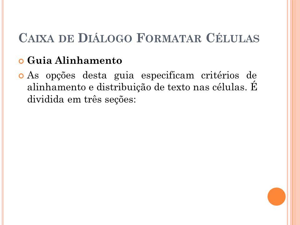 Caixa de Diálogo Formatar Células