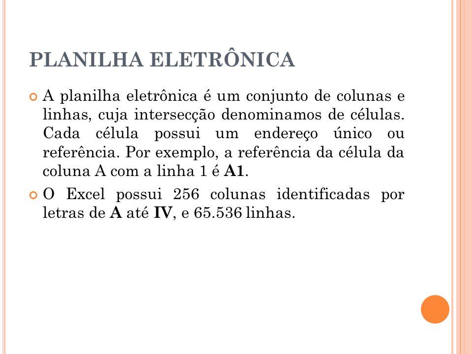 PLANILHA ELETRÔNICA