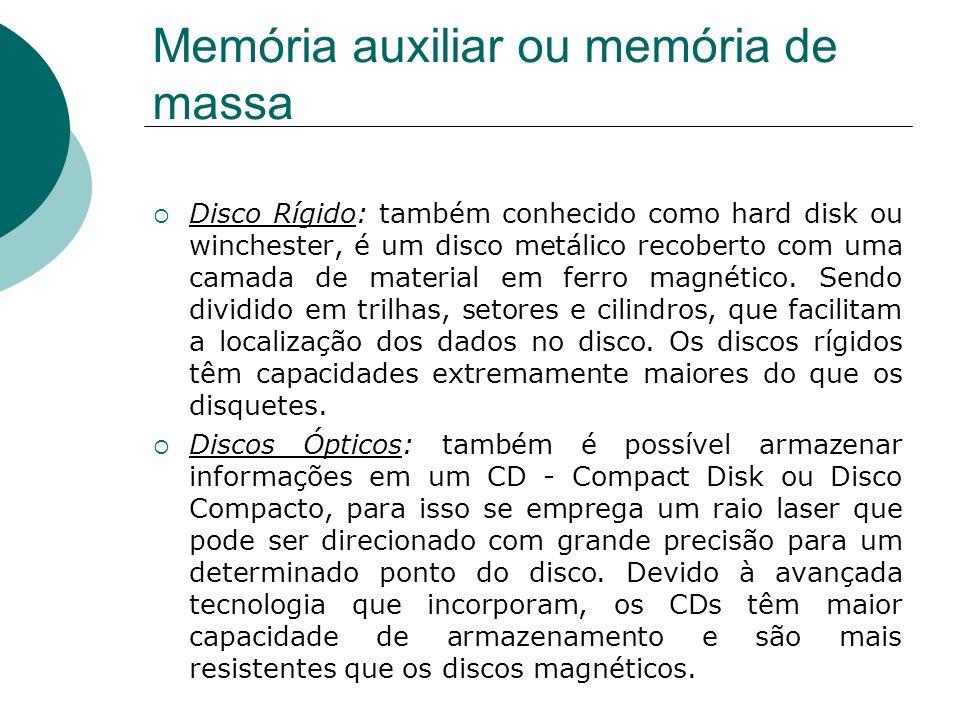 Memória auxiliar ou memória de massa