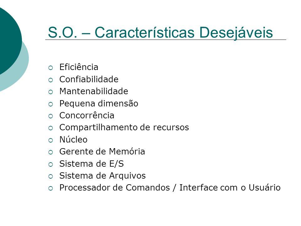 S.O. – Características Desejáveis