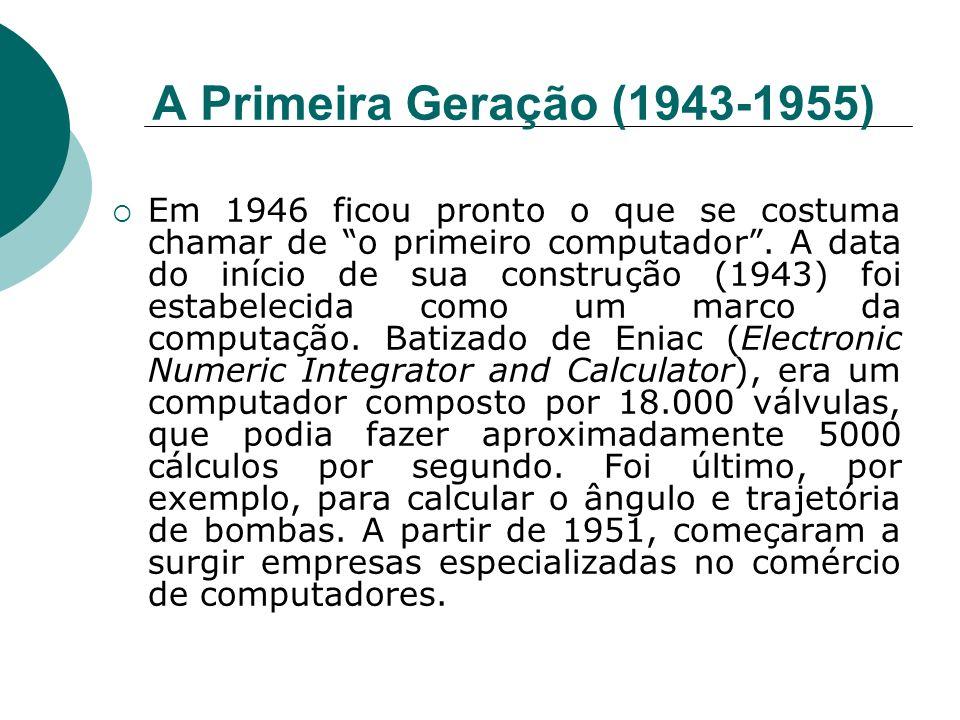 A Primeira Geração (1943-1955)