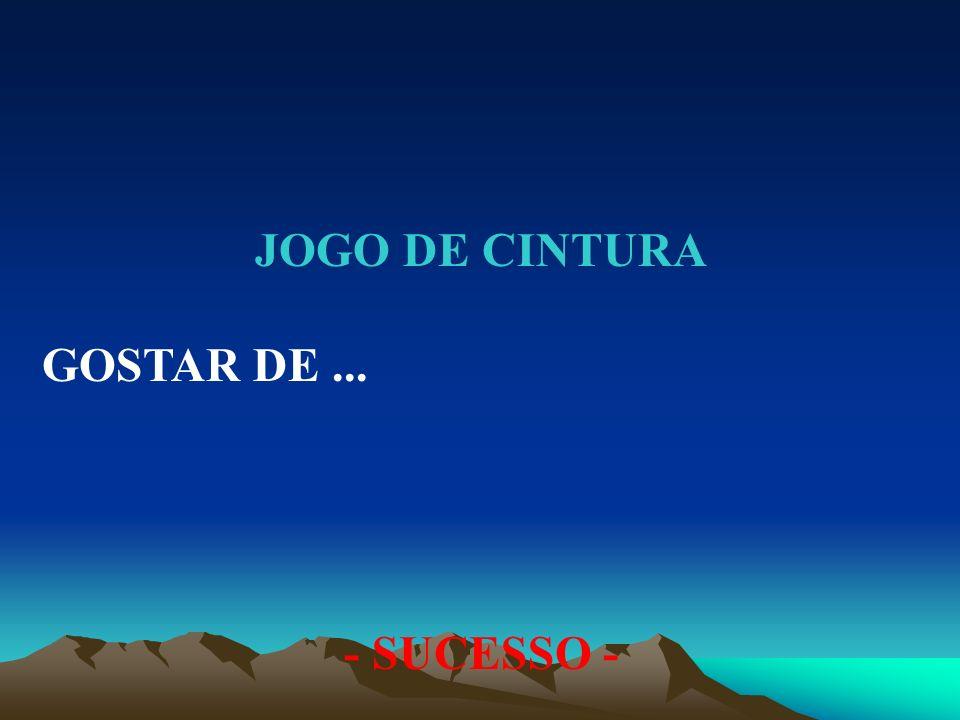 JOGO DE CINTURA GOSTAR DE ... - SUCESSO -