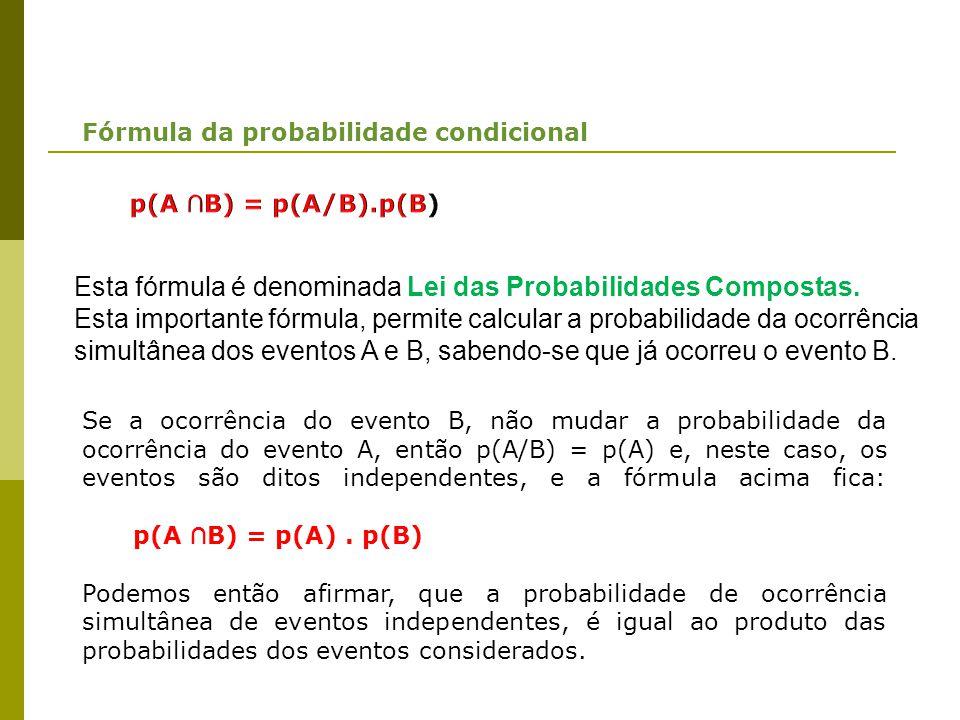 Fórmula da probabilidade condicional