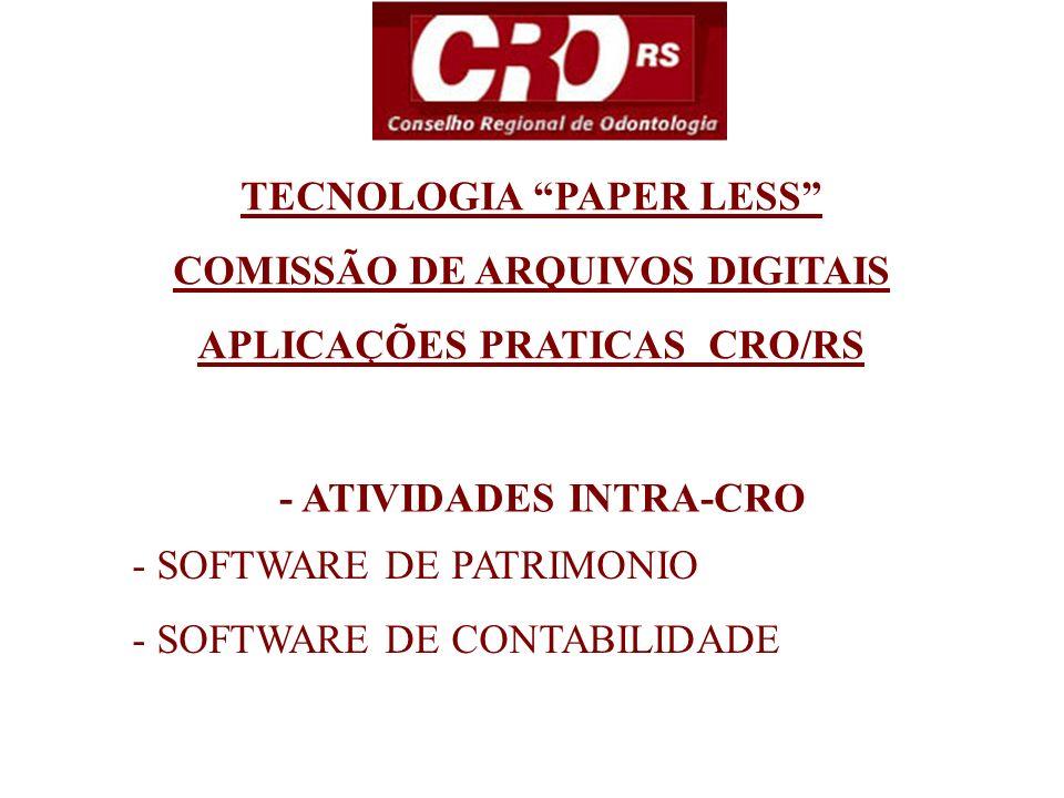 TECNOLOGIA PAPER LESS COMISSÃO DE ARQUIVOS DIGITAIS