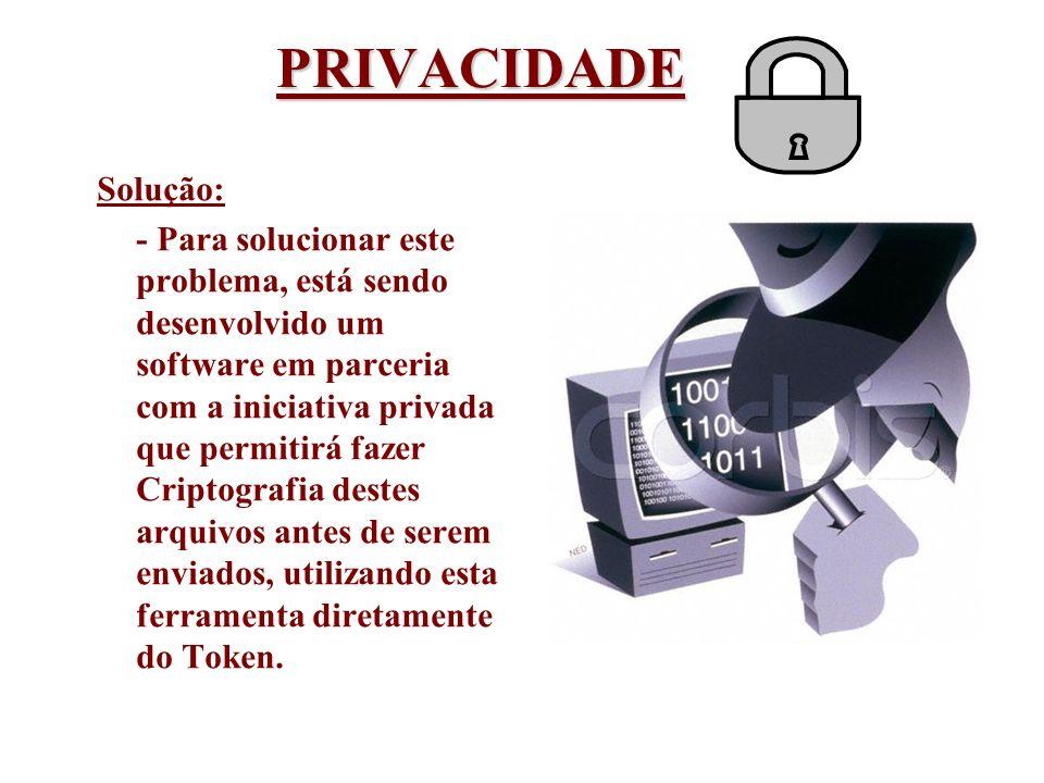 PRIVACIDADE Solução: