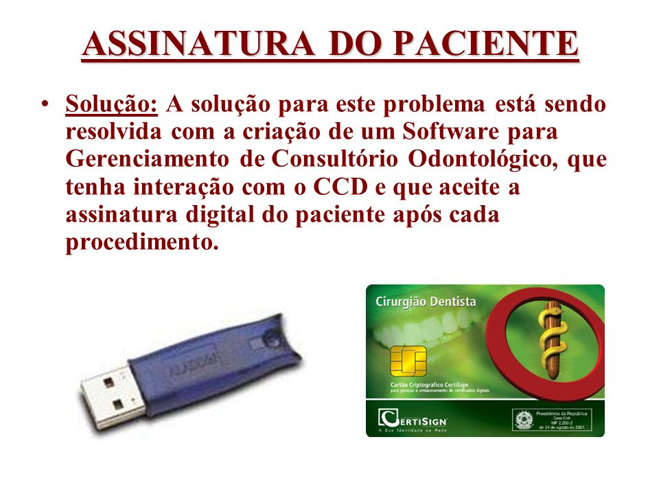 ASSINATURA DO PACIENTE