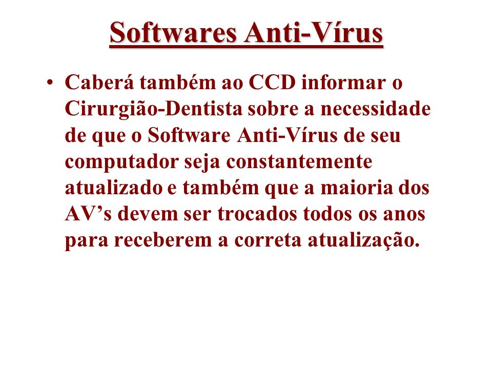 Softwares Anti-Vírus