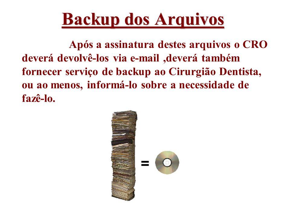 Backup dos Arquivos